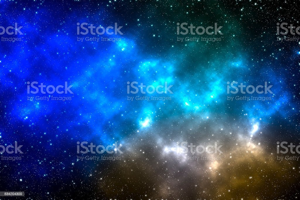 Space Background with Stars and Colorful Gases