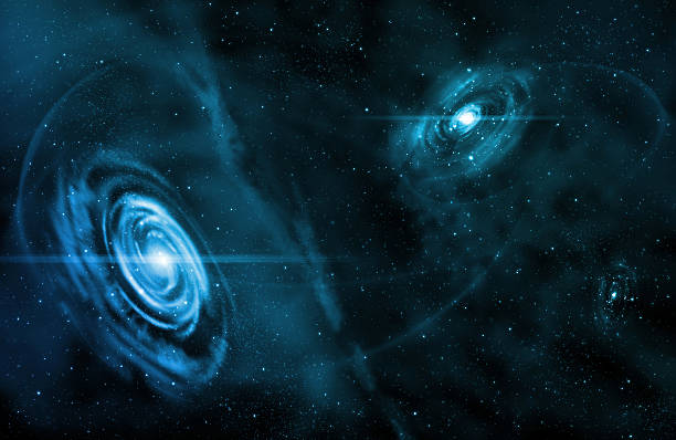 space - blue stock photo