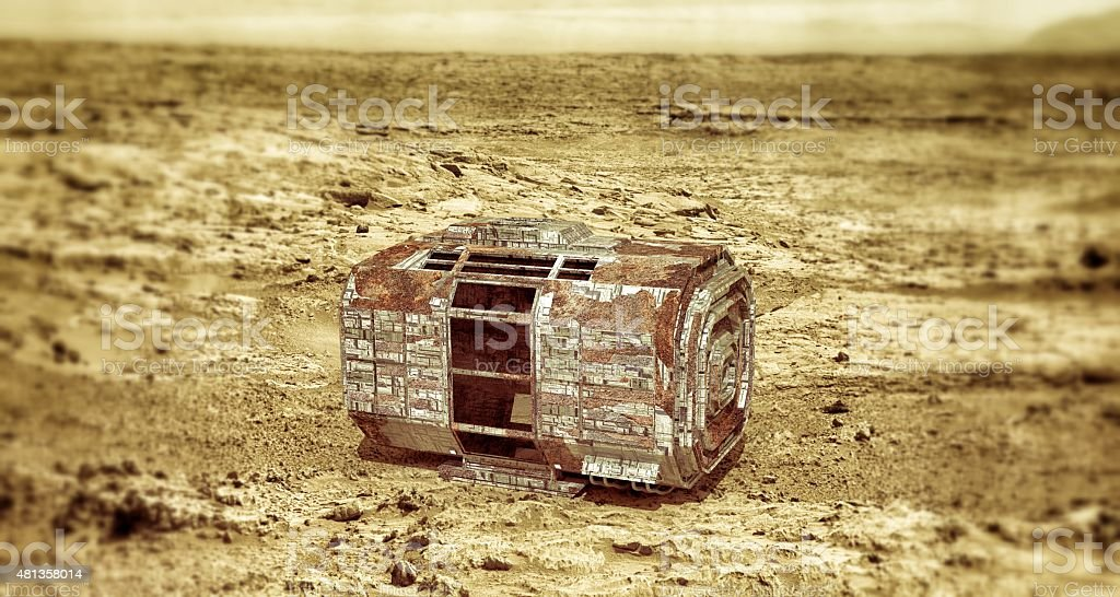space capsule stock photo
