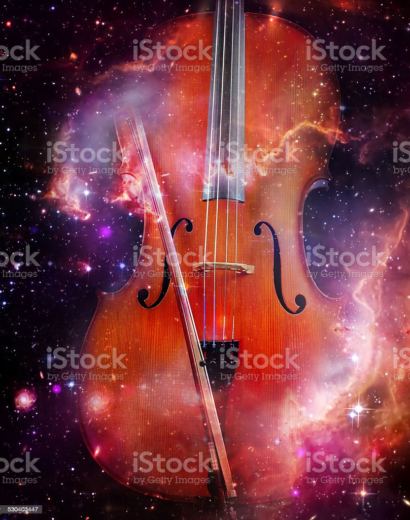 Space Cello stock photo