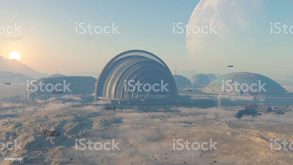 colonia espacial stock photo