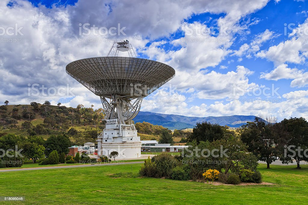 CAN Space dish 2 sky stock photo