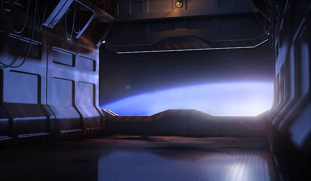 Space door stock photo