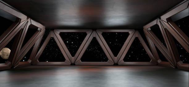 environnement spatial prêt pour la maquette de votre rendu 3d de personnages - vaisseau spatial photos et images de collection
