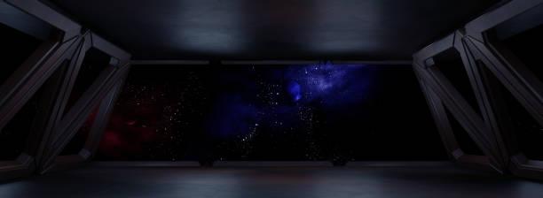 environnement spatial, prêt pour la maquette de votre rendu characters.3d - vaisseau spatial photos et images de collection