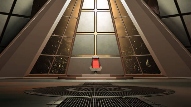 rymdmiljö, redo för comp av dina karaktärer. 3d-rendering - tron sci fi bildbanksfoton och bilder