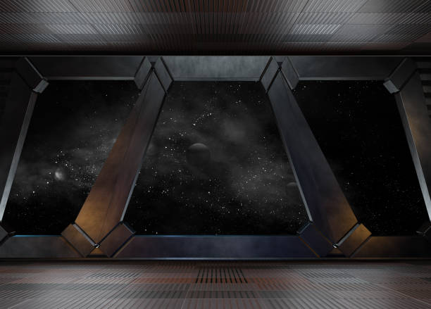 space environment, ready for comp of your characters.3d rendering - space exploration stock photos and pictures