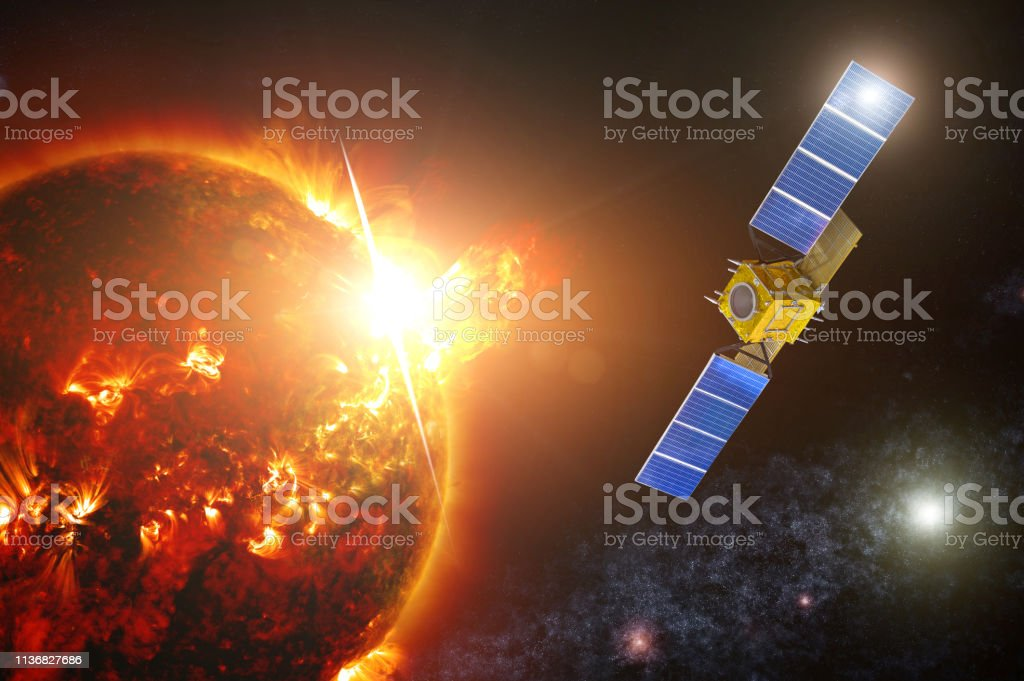 Space exploration satellite to monitor the actinicity of a Sun star....