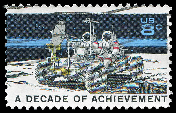 space explore: Lunar Rover (XXLarge) US postage stamp: space explore rover stock pictures, royalty-free photos & images