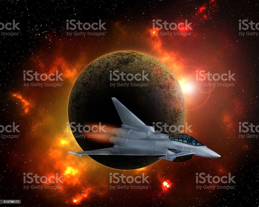 Space explorer. stock photo