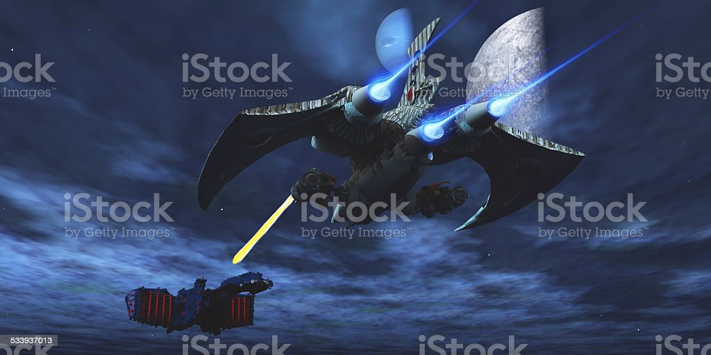 Space Fight stock photo