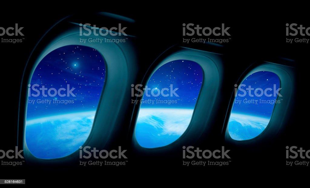 Space flight stock photo