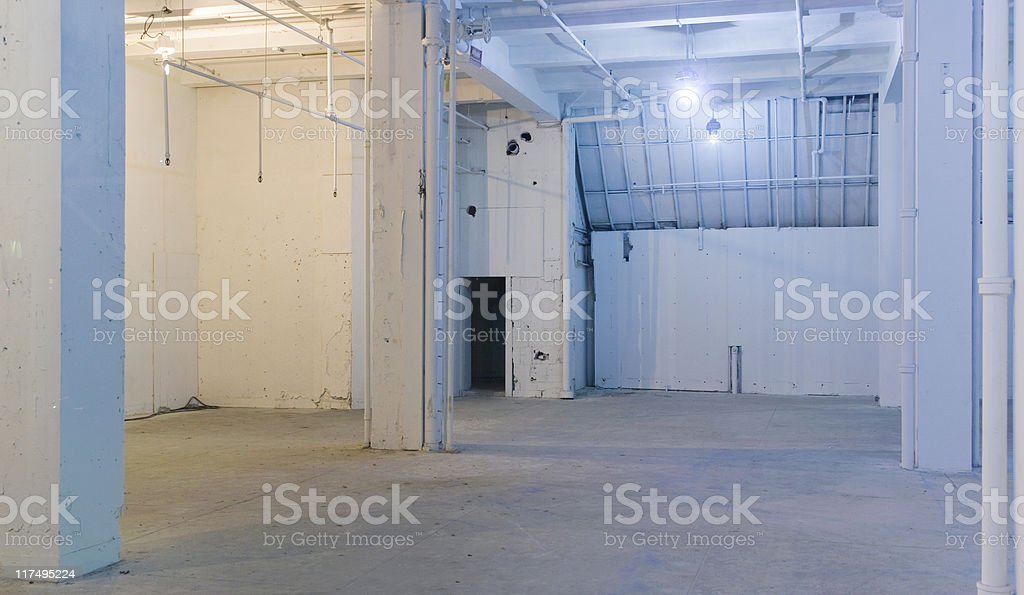 Space for rent - panoramic interior royalty-free stock photo