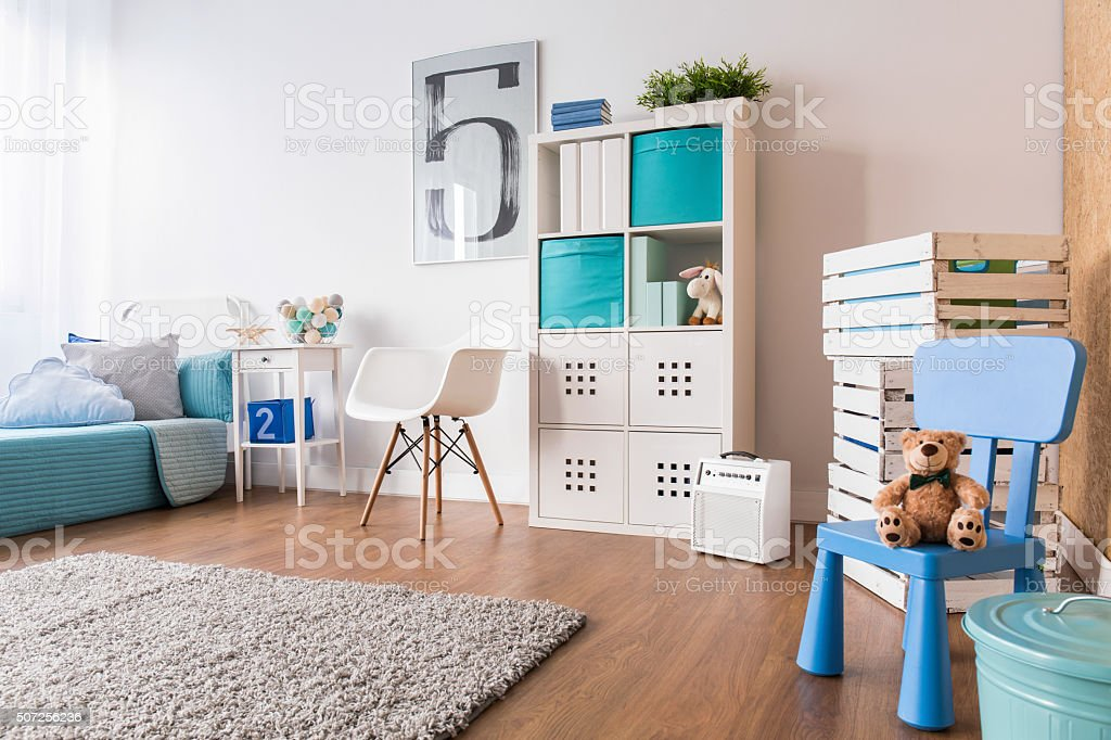 Space for sleep and play stock photo