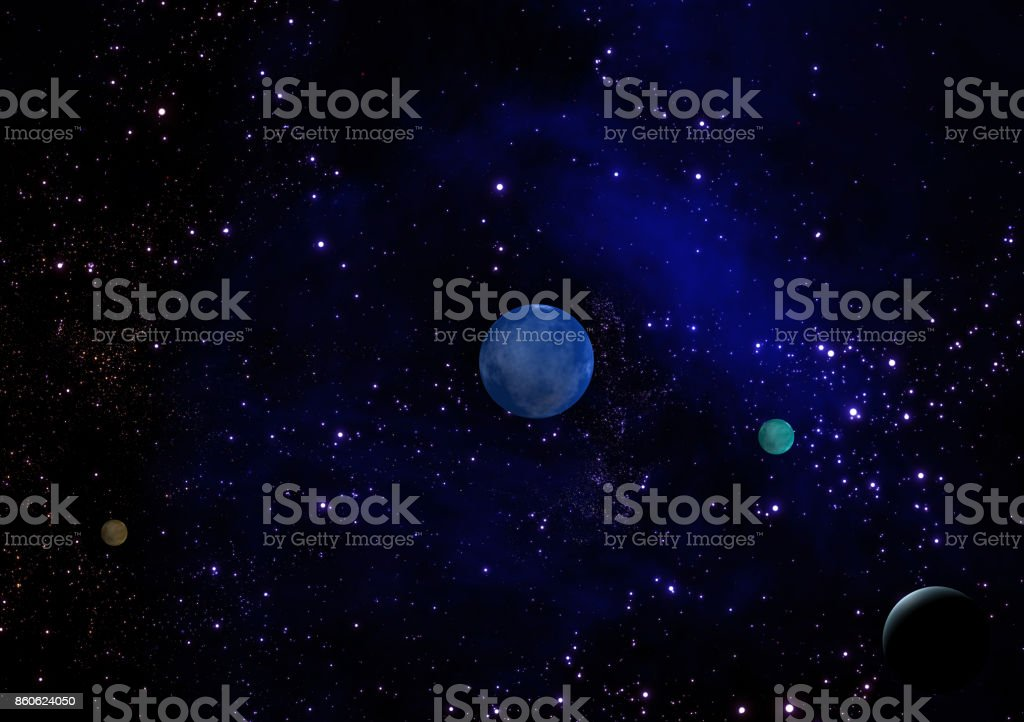 space galaxy 3d rendering stock photo