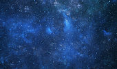 Space galaxy, blue abstract background