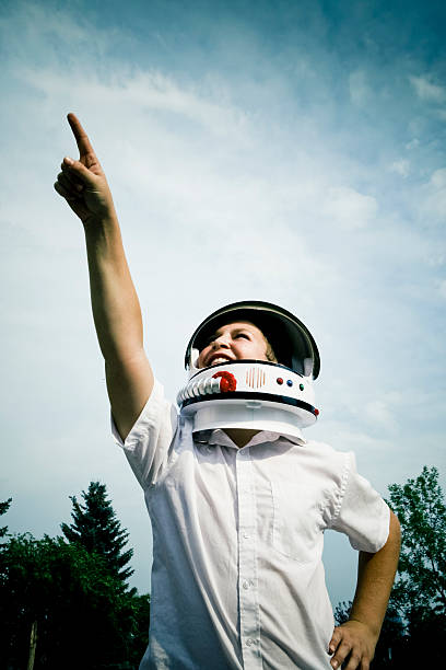 space lad - helmet visor stock photos and pictures