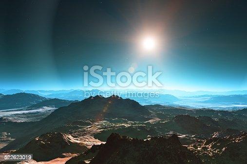 istock Space landscape 522623019