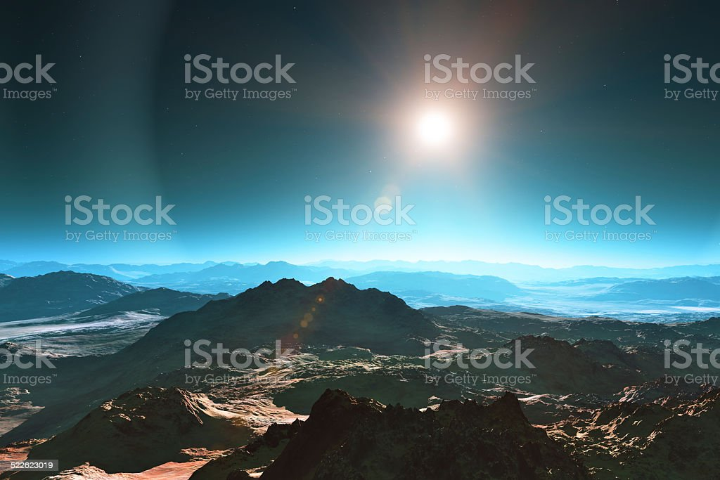Space landscape stock photo