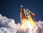 istock Space Launch System Takes Off 1015481008