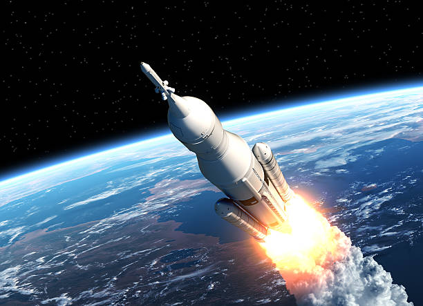 Space Launch System Takes Off stock photo