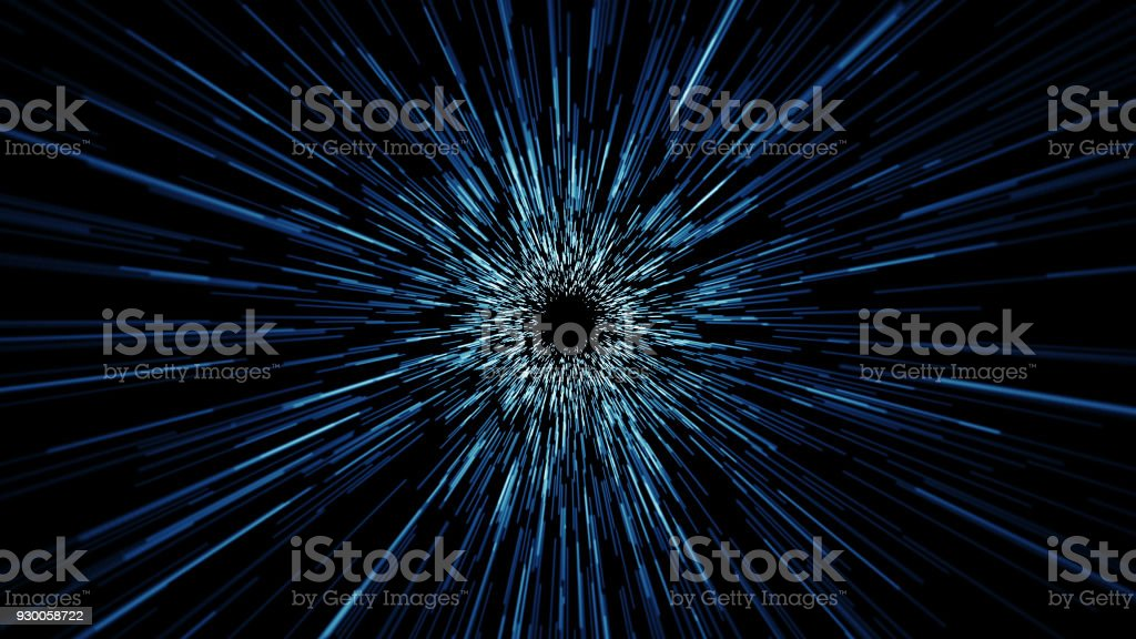 Space lines tunnel seamless loop stock photo
