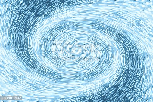 istock Space matter revolves around a spiral wormhole of blue color. Fantastic background image of asymmetric vortex tunnel in center of shot. 1014519712
