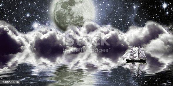 815224118 istock photo Space, moon, lake 815222016