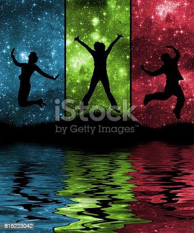 815224118 istock photo Space, moon, lake 815223042