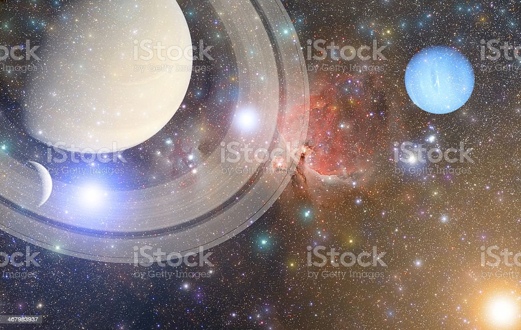 Space Mosaic royalty-free stock photo