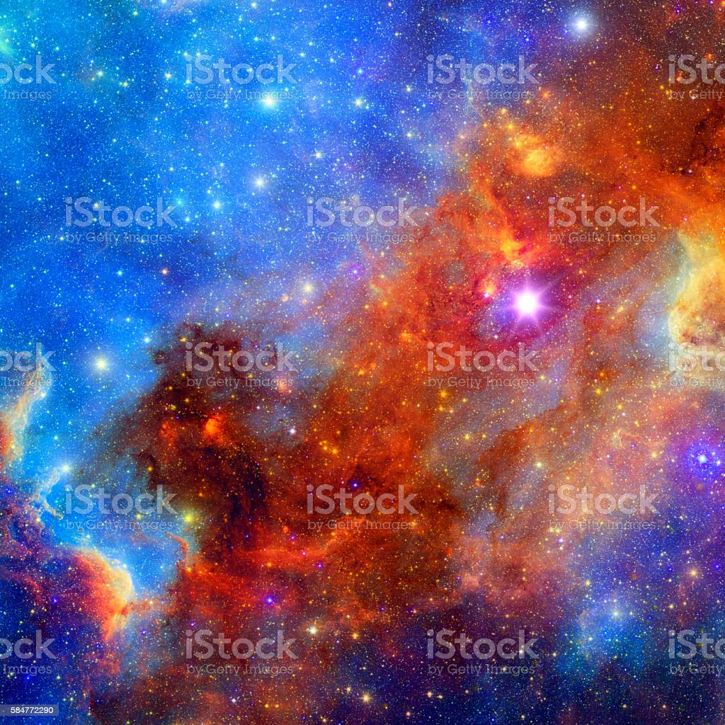 Space  nebula background stock photo