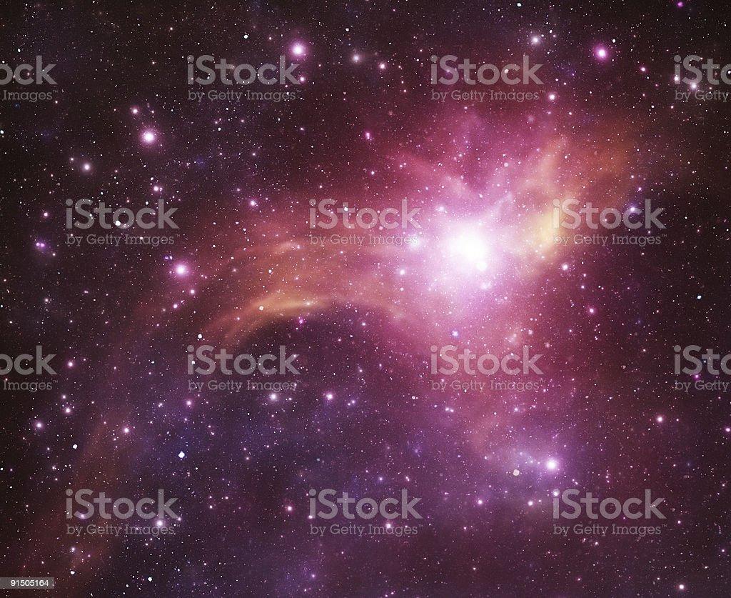 Space nebula royalty-free stock photo