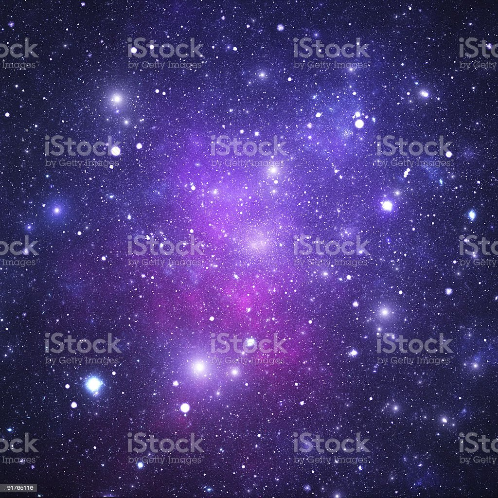 Space nebula stock photo