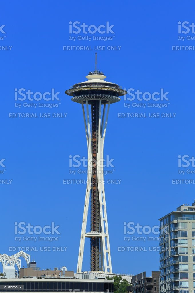 Space Needle: an attraction for Tourists in Summer stock photo