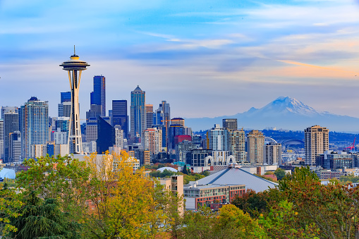 Space Needle and Seattle downtown