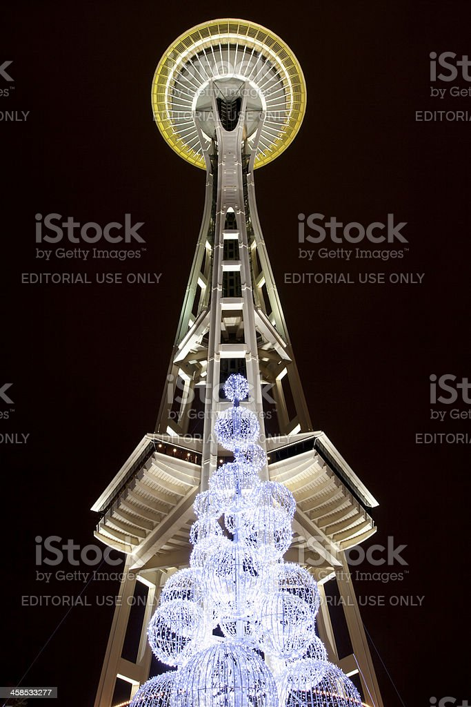 Space Needle at Night stock photo
