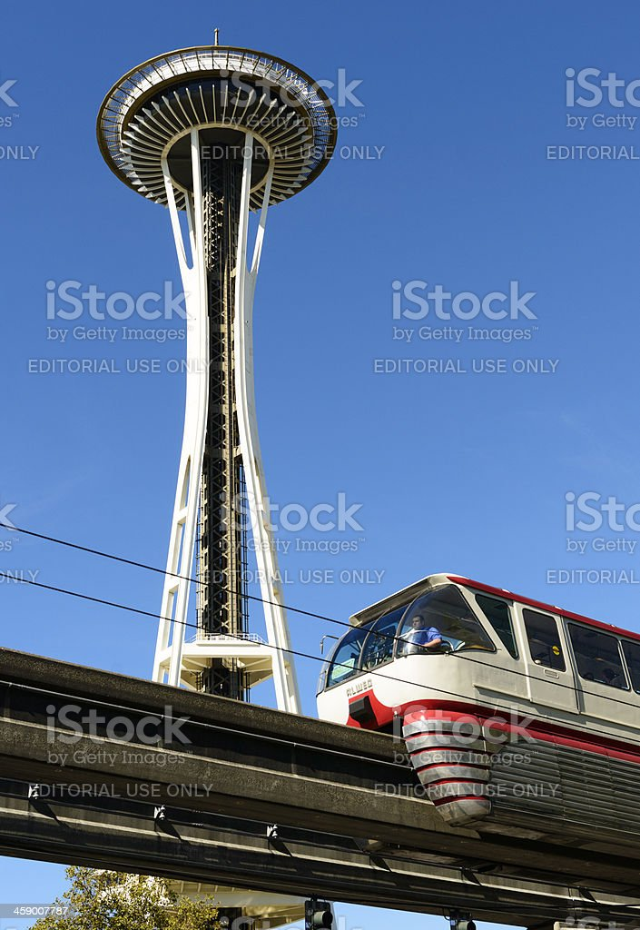 Space Needle in Seattle USA royalty-free stock photo