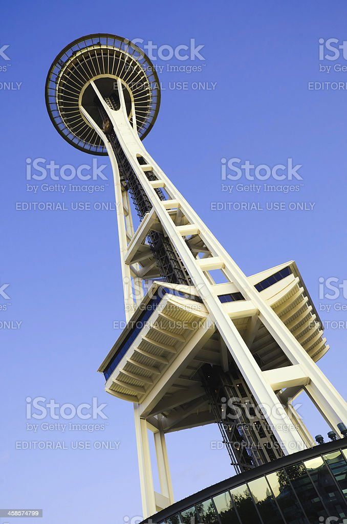 Space Needle in Seattle, WA royalty-free stock photo