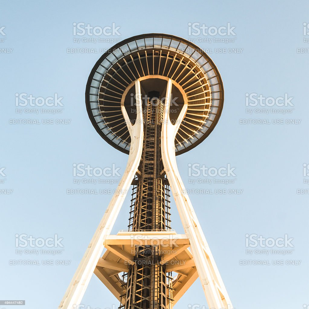 space needle tower in seattle stock photo