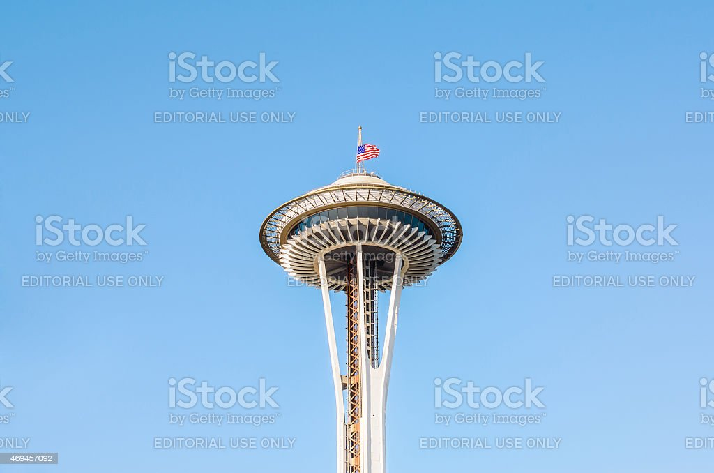 Space Needle Tower, Seattle stock photo