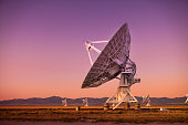Radio antenna dishes of the Very Large Array radio telescope near Socorro, New Mexico