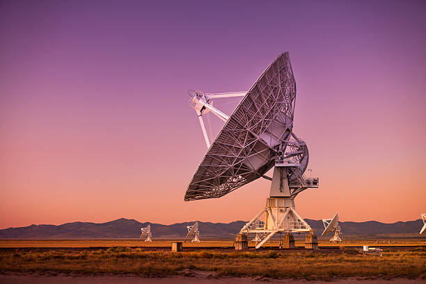 Space observatory signal search Radio antenna dishes of the Very Large Array radio telescope near Socorro, New Mexico telecommunications equipment stock pictures, royalty-free photos & images