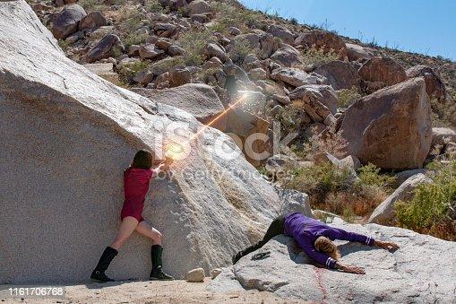 Laser shootout in the desert