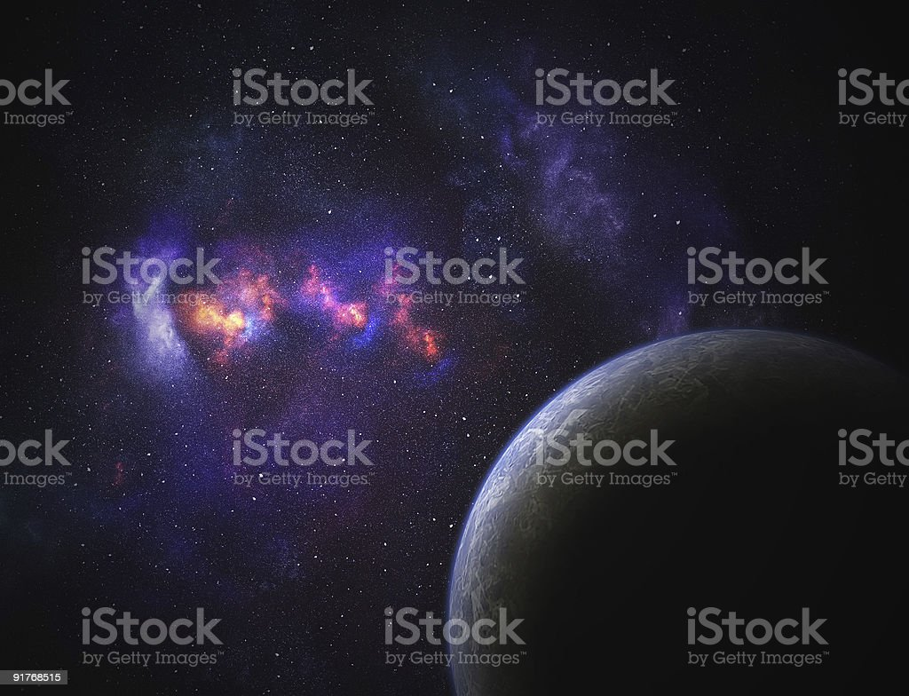 Space planet royalty-free stock photo