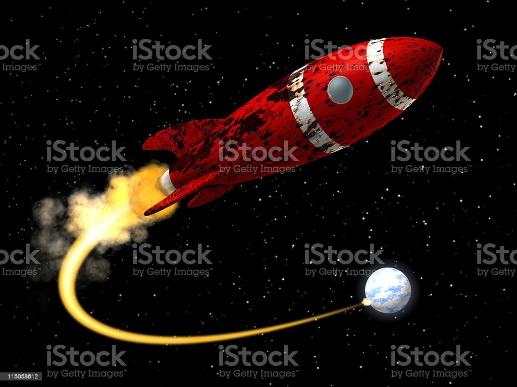 Space Rocket from Earth royalty-free stock photo
