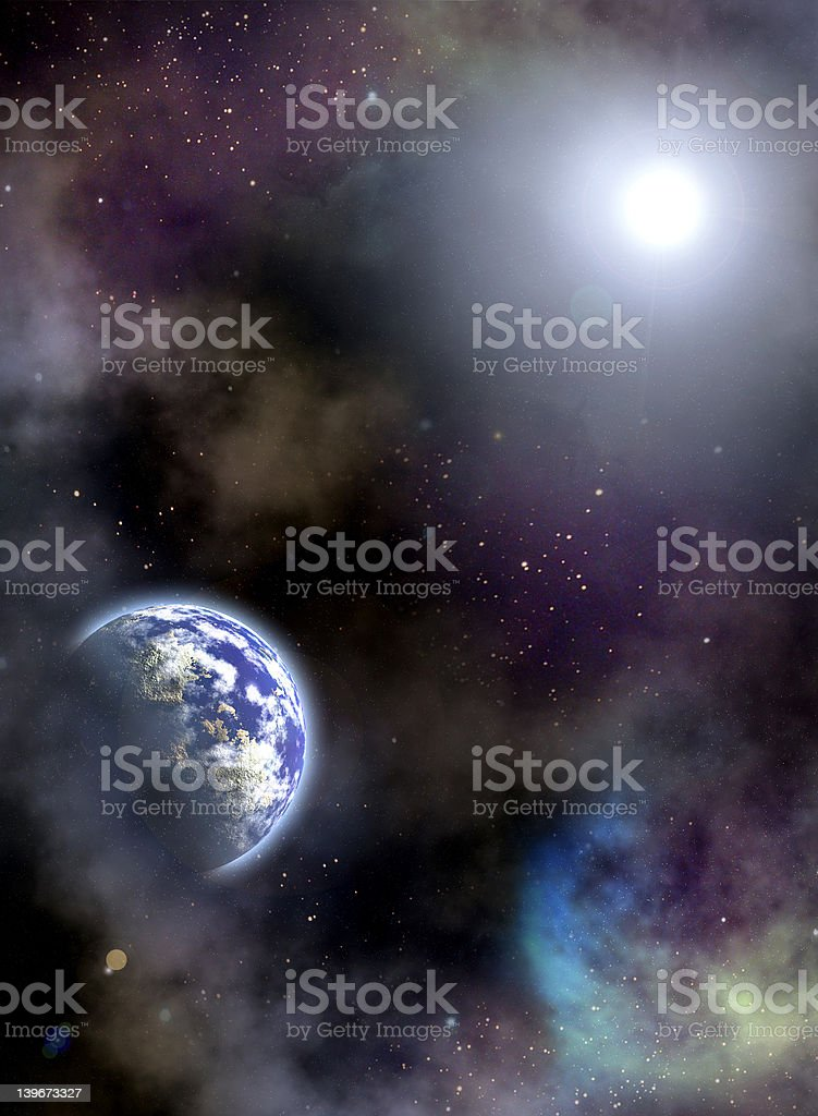 Space scenario stock photo