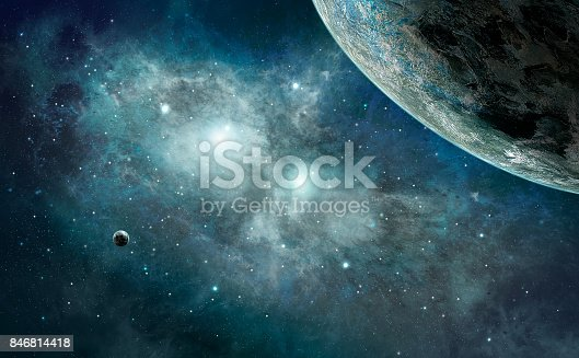 istock Space scene. Blue nebula with planet. https://nasa3d.arc.nasa.gov/detail/jup2vss2 846814418