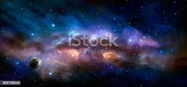 istock Space scene. Colorful nebula with planet. https://nasa3d.arc.nasa.gov/detail/as10-34-5013 906798540
