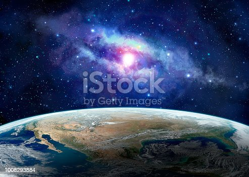 istock Space scene. Earth planet with blue milky way. https://www.nasa.gov/sites/default/files/images/618486main_earth_full.jpg 1008293884