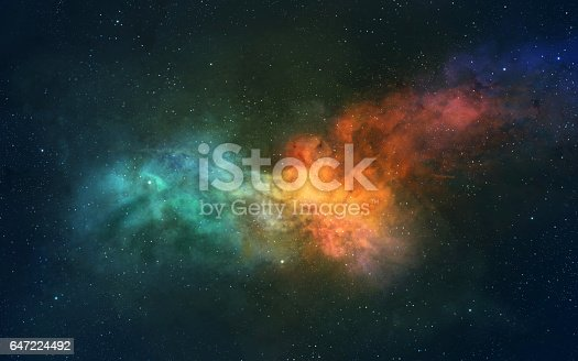 istock Space scene. Nebula with planet. https://nasa3d.arc.nasa.gov/detail/as10-34-5013 647224492